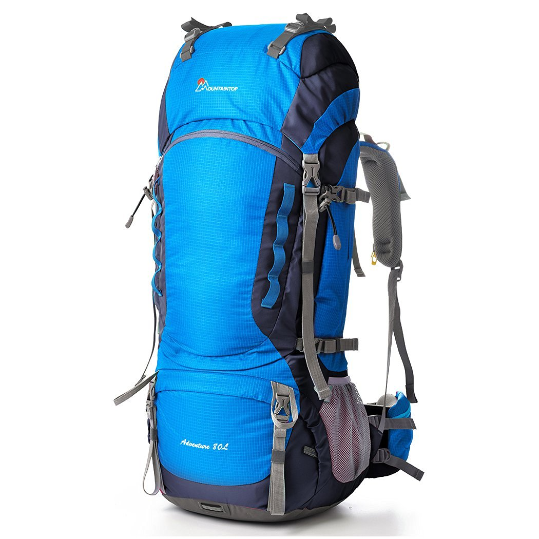Mountaintop 80L Water-resistant Internal Frame Backpack